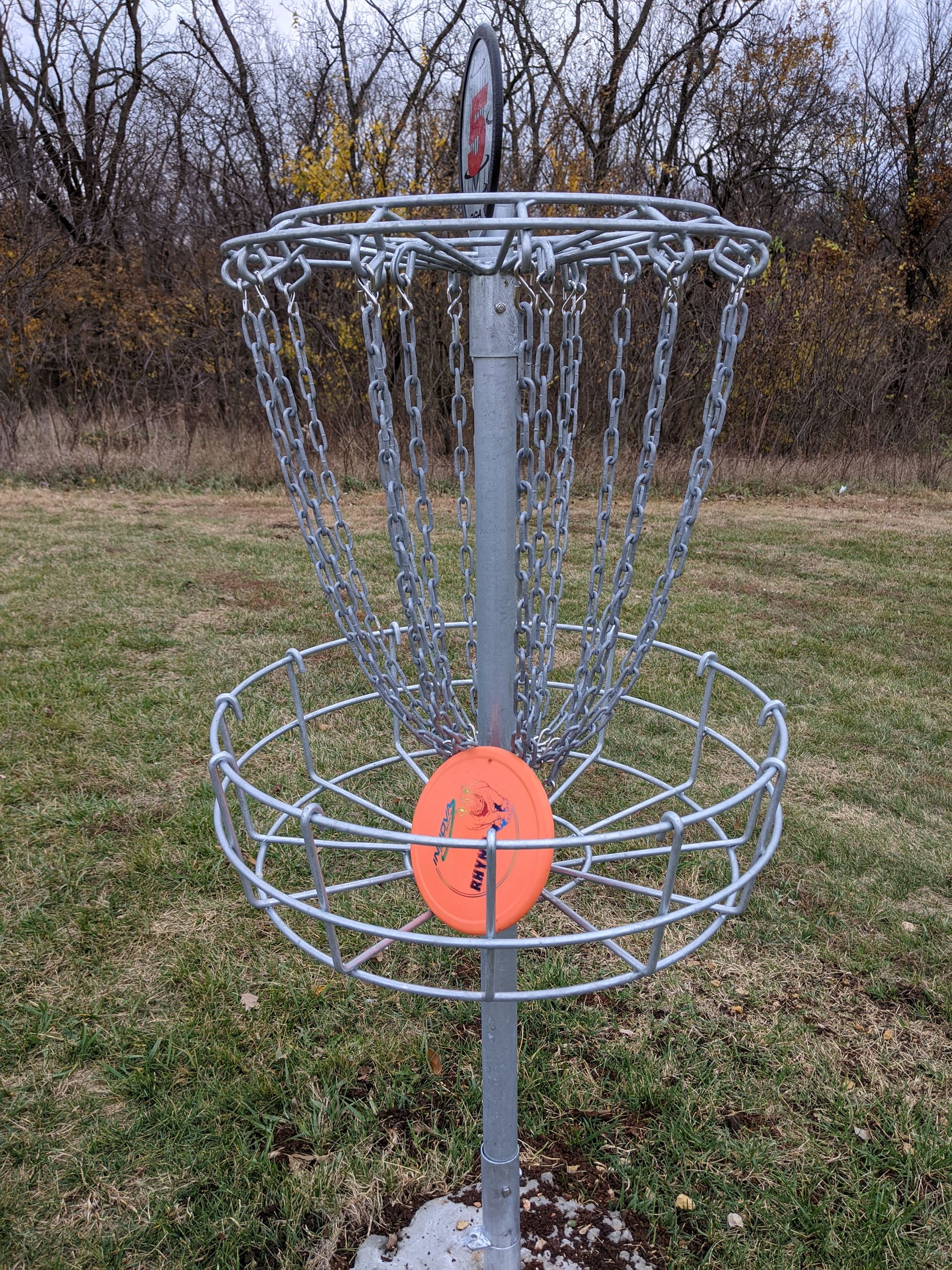 The disc golf course at Lewis-Young Park is ready for play.
