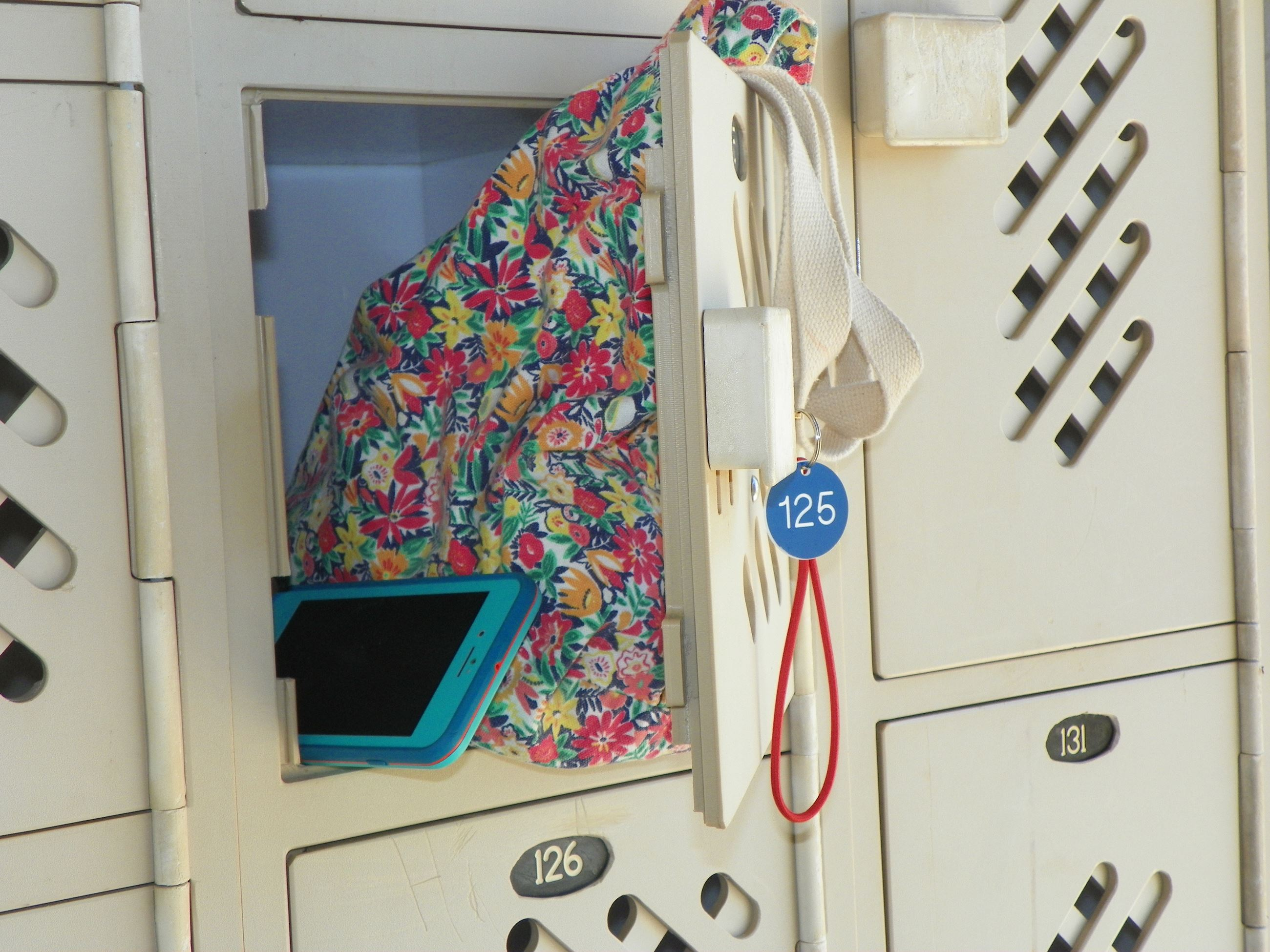 lockers at the aquatic center