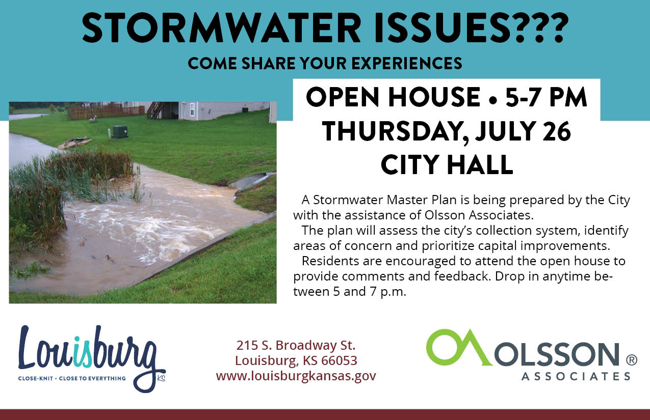 stormwater open house invite