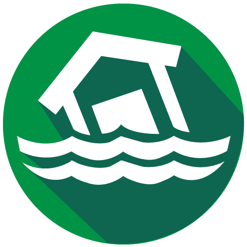 Severe weather icon for flooding