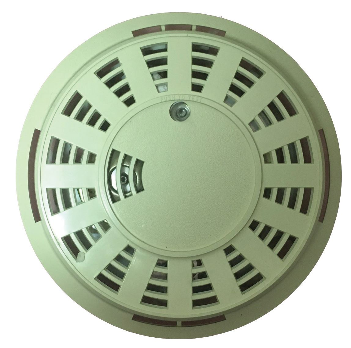 Smoke detectors like this should be replaced every 10 years.