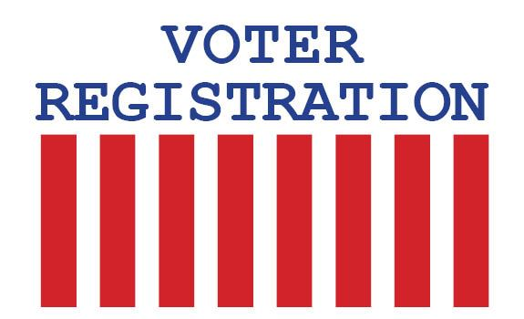 A graphic depicting voter registration.