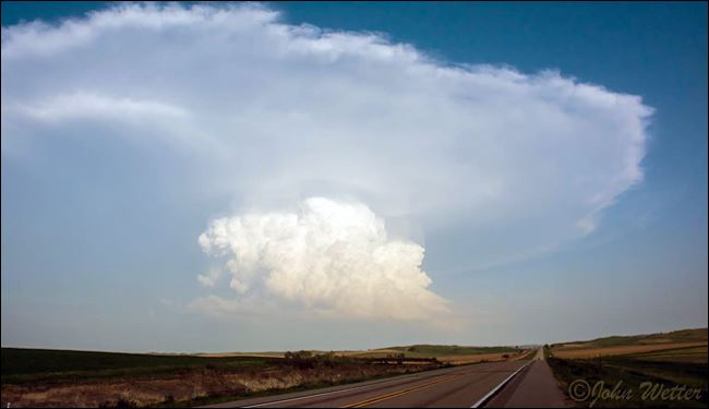 National Weather Service photo of a potential thunderstorm.